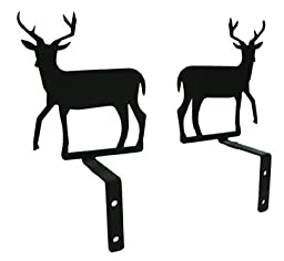 Village Wrought Iron CUR-S-3 Deer Swags by Village Wrought Iron