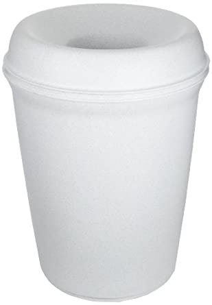 Rubbermaid Commercial Atrium Classic Trash Can with Funnel Top, Round