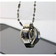 Sword Art Online Necklace Stainless Steel Rotating Rings Pendant Necklace (Sword Art Online Ring compare prices)