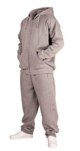 Urban Classics Blank Suit tuta da jogging da uomo grigio grigio L