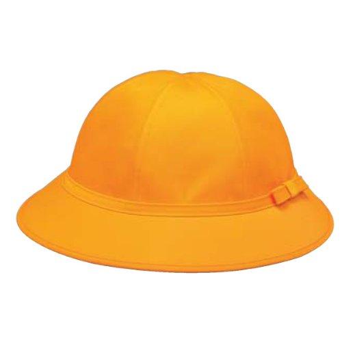 スクールキャップ&スクールハット(黄色い帽子)学校用 通園帽子 (L(56cm), (女の子用))
