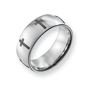 Titanium 8mm Polished Band Ring