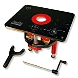JessEm Mast-R-Lift II 02120 Router Lift, 9-1/4-Inch by 11-3/4-Inch (Color: Black/Red, Tamaño: 9-1/4-Inch by 11-3/4-Inch)