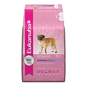 Eukanuba Small Breed Adult Weight Control Dry Dog Food, 4-Pound Bag