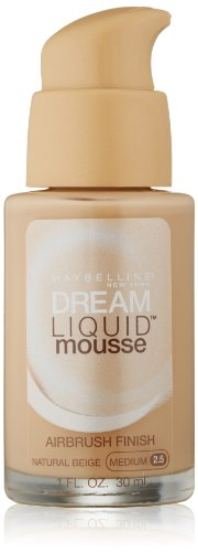 Maybelline New York Dream Liquid Mousse Foundation, Natural Beige Medium 2.5, 1 Fluid Ounce