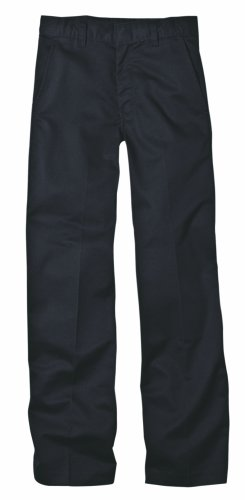 Dickies Little Boys' Flex Waist Flat Front Pant, Black, 5 Regular