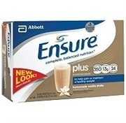 Ensure Plus Complete Balanced Nutrition Drink, Ready to Use, Vanilla Shake, 24 - 8 Fluid Ounce Bottles