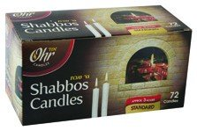 Shabbath Candles 3 Hr. - 72 Ct.