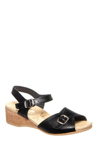 Worishofer 711 Low Wedge Sandal - Black