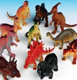 Dozen Jumbo Dinosaurs up to 6 inches long