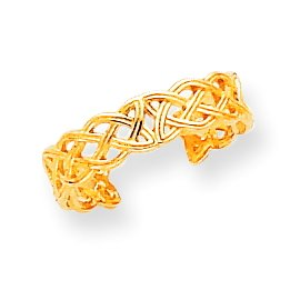 14k Yellow Gold Celtic Knot Toe Ring. Gold Weight- 0.94g.