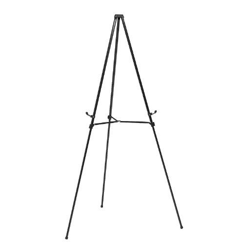 Ghent Telescoping Easel, Black Aluminum, 3 Leg (1050)