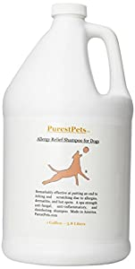 PurestPets Allergy Relief Medicated Dog Shampoo, 1-Gallon