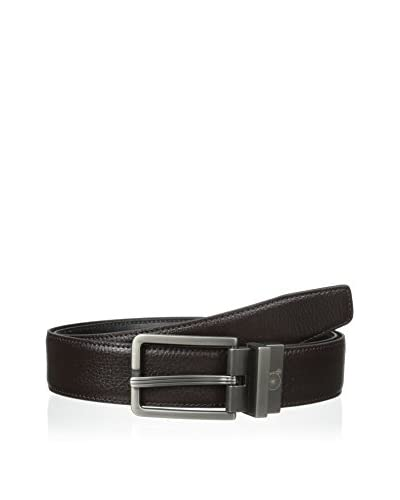 Maker & Company Men's Brushed Gunmetal Reversible Belt