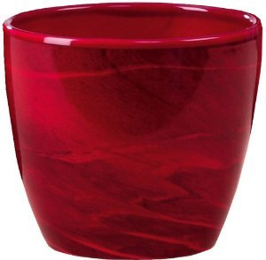 Scheurich 920 16 red marble pot cover for Pot jardin pas cher