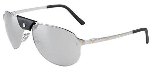 cartier-lunettes-de-soleil-homme-argente-argent