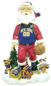 New York Knicks Santa Claus Forever Collectibles Bobble Head by Hall+of+Fame+Memorabilia