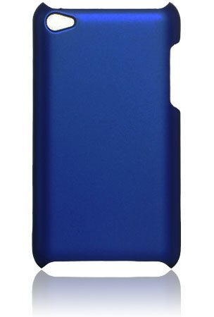 Premium Rubberized Hard Crystal Case Cover for Apple iPod Touch 4G, 4th Generation, 4th Gen - Blue, Seamless Rear Case Only