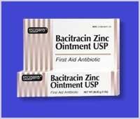 Bacitracin Zinc First aid Antibiotic Ointment, USP - 4 Oz