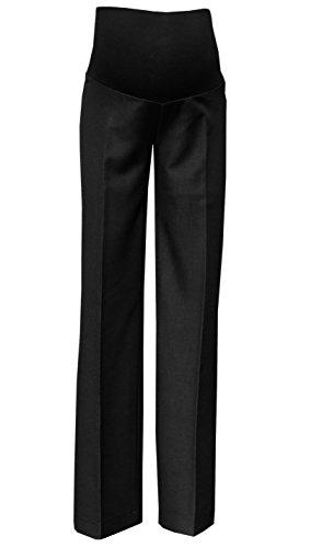 Mija - Elegante Schwangerschaftshose UmstandsHose mit Bauchband 1011A (38 / Schrittlänge 75cm, Schwarz)