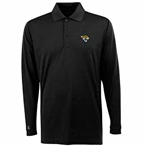 Jacksonville Jaguars Long Sleeve Polo Shirt (Team Color) by Antigua