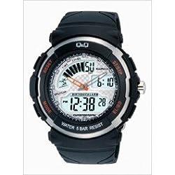 Q&Q Regular Analog-Digital White Dial Mens Watch - M012-001