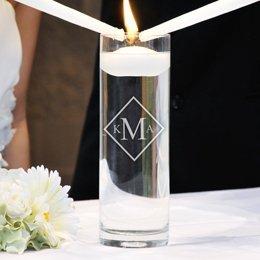Kitty4U Personalized Monogram Floating Unity Candle (Diamond)