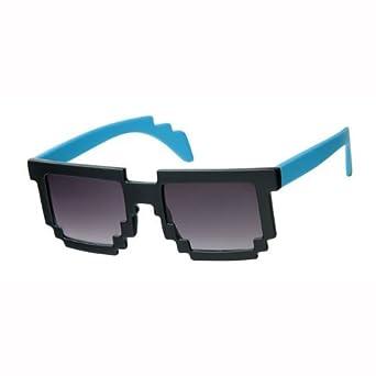 Pixel Sonnenbrille Farbe Blau