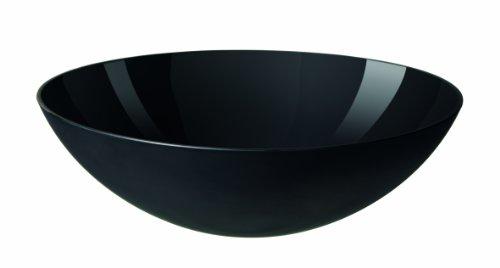Salatschüssel, schwarz