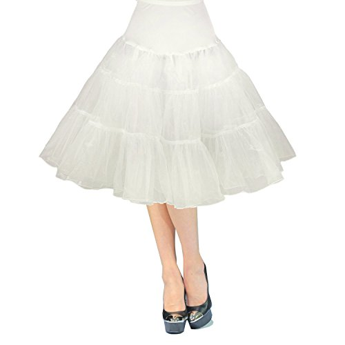 Create a virgin bride Madonna style with this lovely, white petticoat skirt. Three sizes and a big choice of colors.