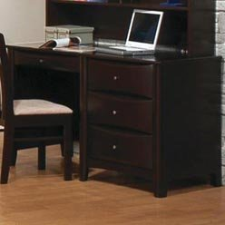 Buy Low Price Comfortable Hillary and Scottsdale Single Pedestal Youth Computer Desk by Coaster (B0051PDWYK)