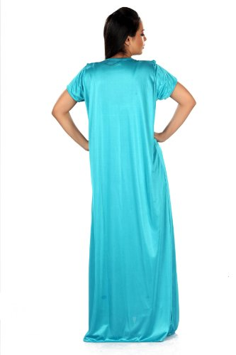 Gorgeous Sexy Nightwear - 2 Piece Full Length Night Gown's - Sky Blue Size L and ox