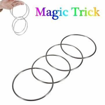 Bheema Trick Magic 4 anneaux de liaison chinois Set For Kids étape Tour de magie