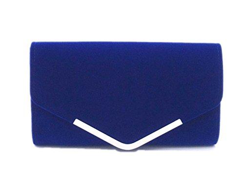 DAYAN softable VelVet Sera Hand Bag Bag Matrimonio,blu