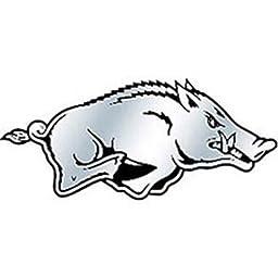 NCAA Arkansas Razorbacks Chrome Automobile Emblem