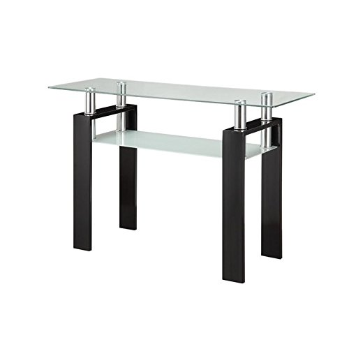 coaster-1-shelf-glass-top-console-table-in-black