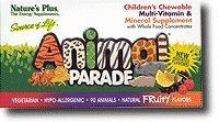 Nature's Plus UK - Animal Parade Multi-Vitamins - Assorted 90's