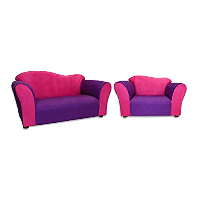 KEET Wave Sofa and Chair Set - Pink and Purple