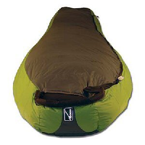 Backside 800 +20 Degree Down Sleeping Bag (Green/Graphite)
