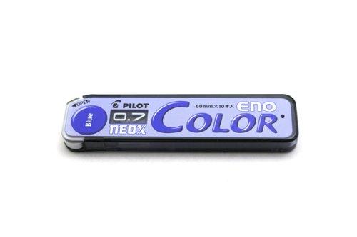 Pilot Color Mechanical Pencil Lead Eno, 0.7Mm, Blue, 10 Leads (Hrf7C-20-L)
