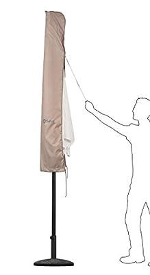 Sekey Schutzhülle für Sonnenschirm, Abdeckhauben für Sonnenschirm,100% Polyester, Taupe von Sekey bei Gartenmöbel von Du und Dein Garten