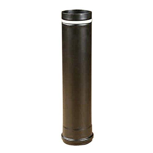Rauchrohr, Ofenrohr Pellet-Rohr 1,00m schwarz matt 80 ø 0,6mm stark