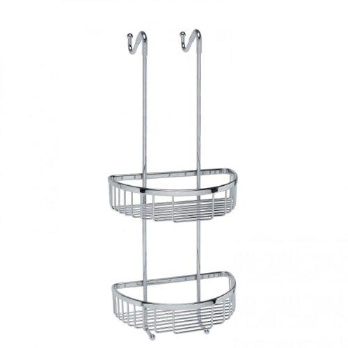 Filo Hanging Shower Basket in Polished Chrome