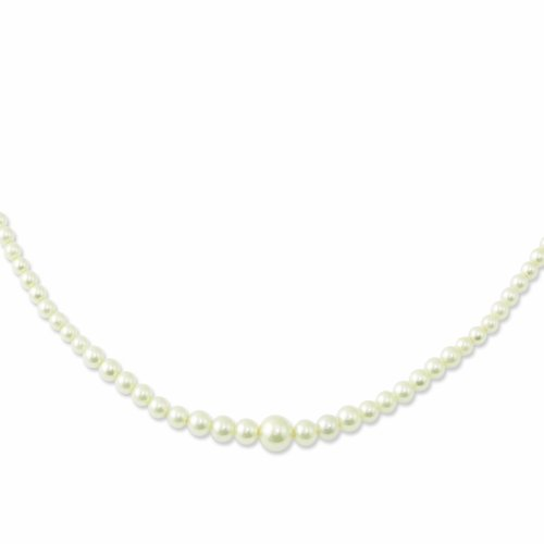 Gold-Tone Graduated Simulated Pearl 18in Necklace