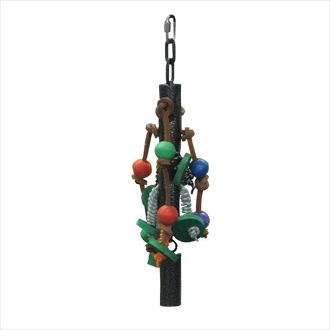 A&E Cage AE012 Sandstone Metal Pipe Bell Toy With Rope