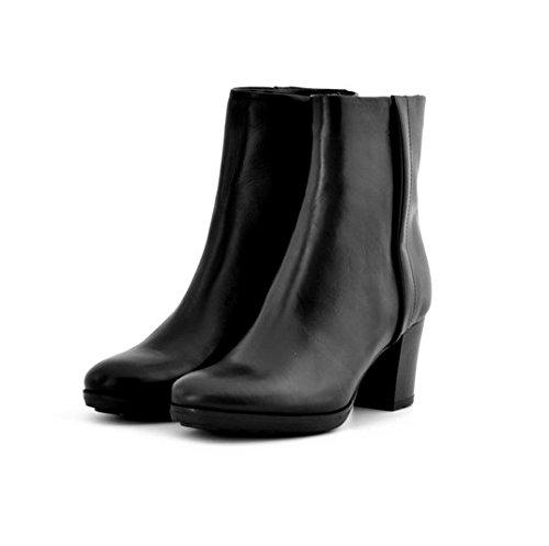 Scarpe stivaletti donna Manas numero 39 152M0827LQNERO in pelle nera tacco comodo