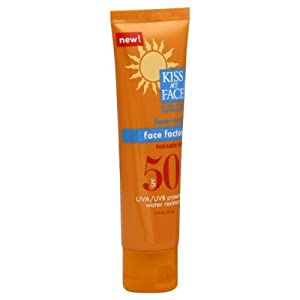 Kiss My Face Face Factor Sunscreen SPF 50 Sunblock for Face and Neck, 2 oz