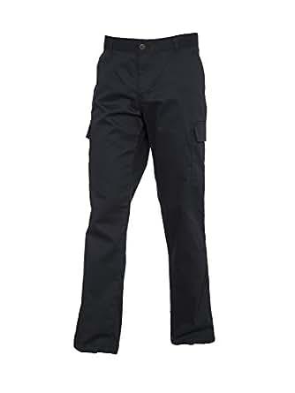 Ladies Cargo Combat Work Trousers Work Wear (8, Black)