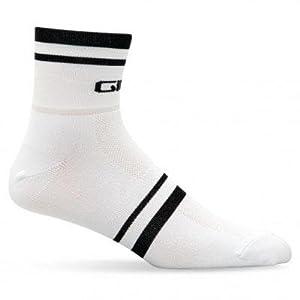 Giro Standard Racer Sock - White Stripe, small