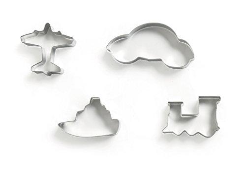 excelsa-cookies-time-packung-4-ausstechformen-fahrzeuge-edelstahl-silber-16-x-21-x-2-cm